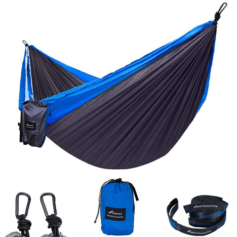 Black/blue Double Layer Camping Hammock