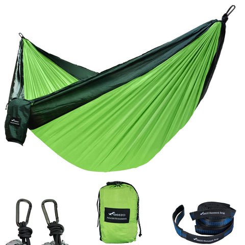 Dark Green/fruit Green Double Camping Hammock
