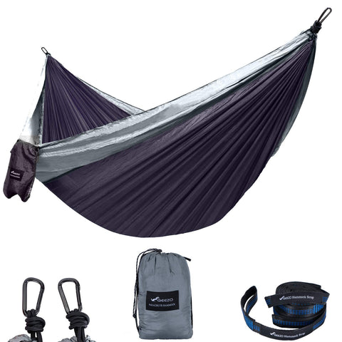 Gray/dark Gray Best Double Camping Hammock