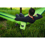 Double Camping Hammock - Black/Brown