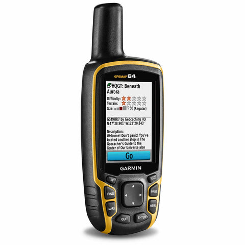 Gray Yellow Handheld GPS Navigation Systems