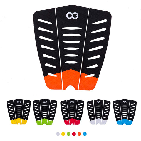 Buy the 3 Pieces of Orange Surfboard Traction Pad - Explore Land N Sea