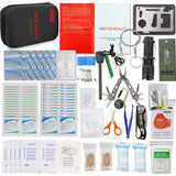 Black 241 Pieces Top Rated Emergency Survival Kit - Explore Land N Sea