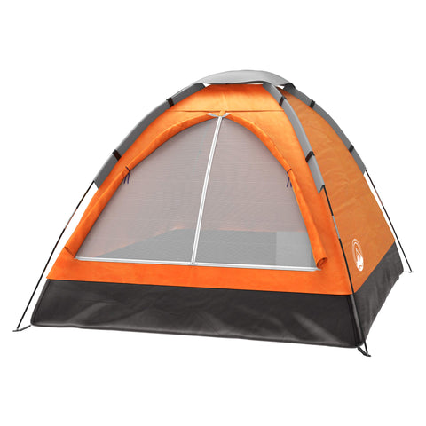 Buy the Orange Colored Adventure Dome 2 Person Tent-Explore Land N Sea