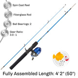Youth Fishing Rod & Reel Combo - Navy Blue