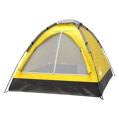 Buy the Yellow Colored 2 Person Cool Camping Tent - Explore Land N Sea