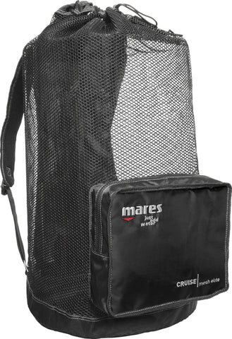 Scuba & Snorkeling Gear Backpack - Mesh - Black