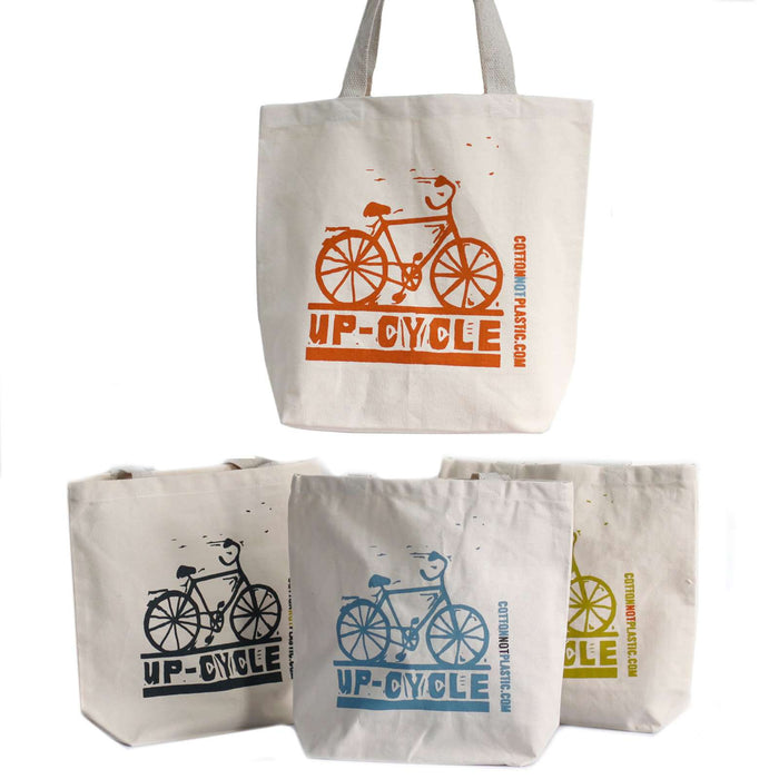 Zero Zen Eco bags Black Eco Cotton Bags - Up Cycle  4 colours