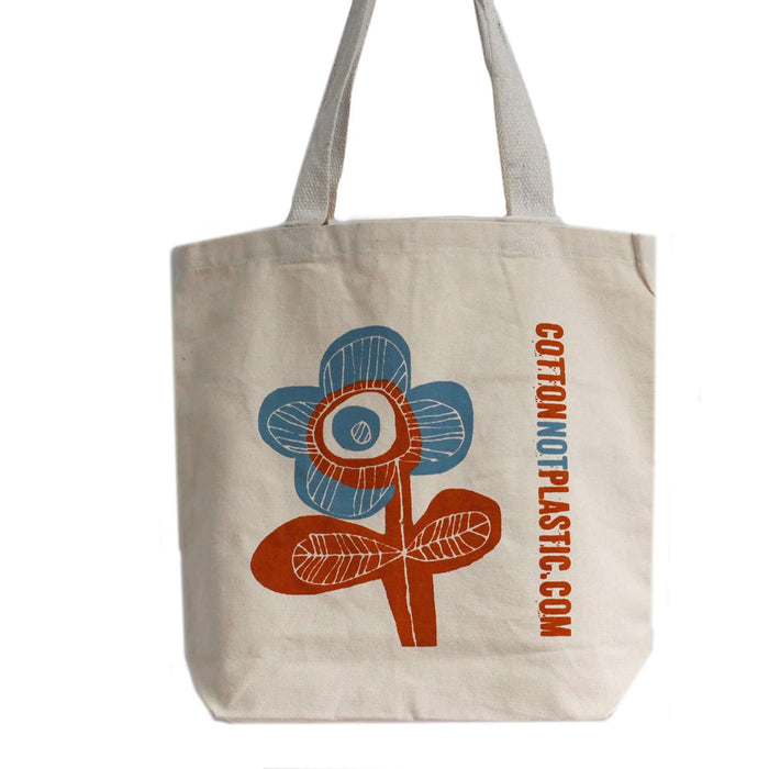 Zero Zen Eco bags Eco Cotton Bags - Bright Flower Single colour