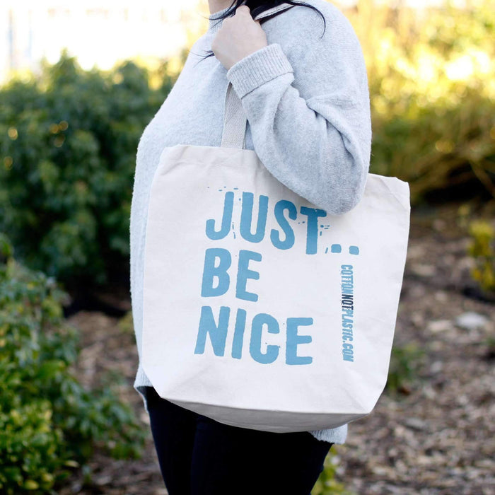 Zero Zen Eco bags Eco Cotton Bags - Just Be Nice used outside by women