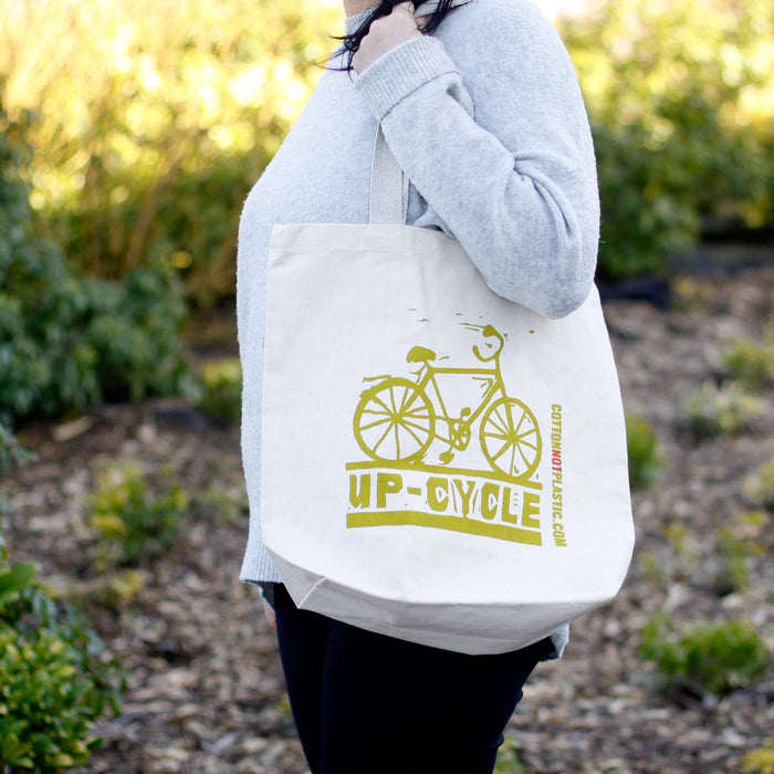 Zero Zen Eco bags Eco Cotton Bags - Up Cycle used out and about