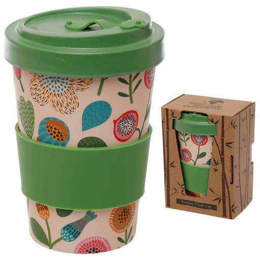 Zero Zen Reusable Bamboo Composite Travel Mug - Autumn Falls BAMB68 in and outside packaging