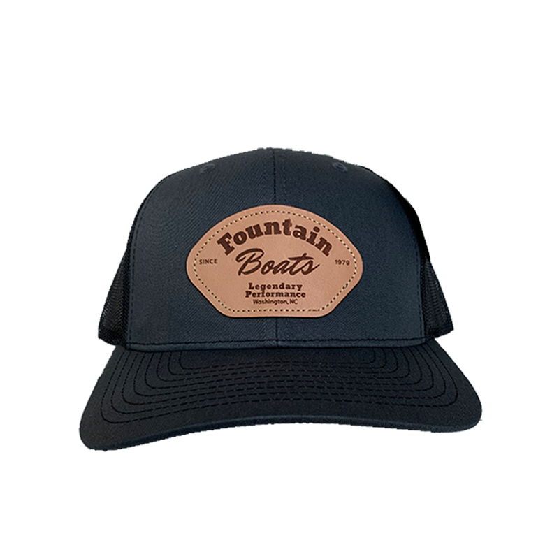 Fountain Leather Patch Hat Charcoal