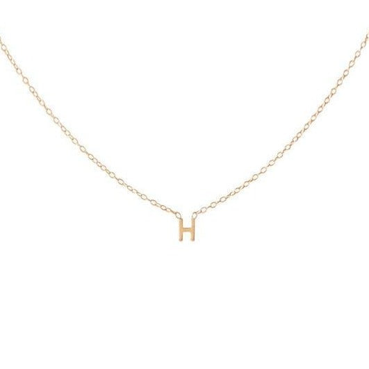 One Drop Mini Initial Necklace