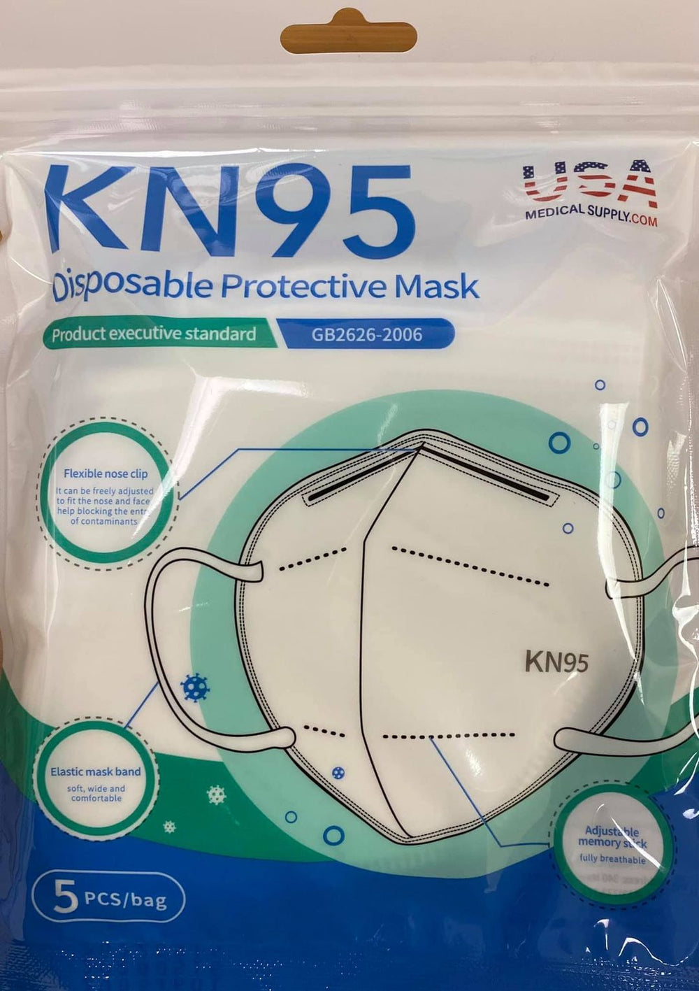 KN95 Mask (5)Pack Protective Disposable