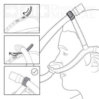 EVORA Nasal Mask Tube Strap for the Fisher & Paykel Nasal Cradle CPAP Mask - USA Medical Supply