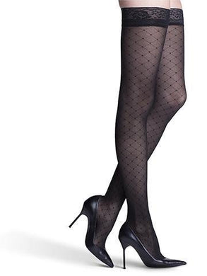 710/711 Allure FOR WOMEN Compression Stockings Thigh High & Pantyhose by Sigvaris 15-20mmHg - Footit Medical, CPAP, Stairlift, Orthotic, Prosthetic, & Mobility Supply