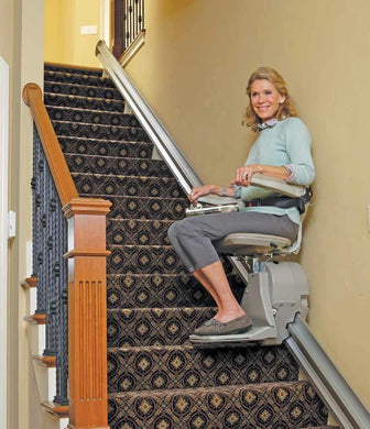 Bruno Elan 3000 Stairlift with Manual Folding Rail - Footit Medical, CPAP, Stairlift, Orthotic, Prosthetic, & Mobility Supply