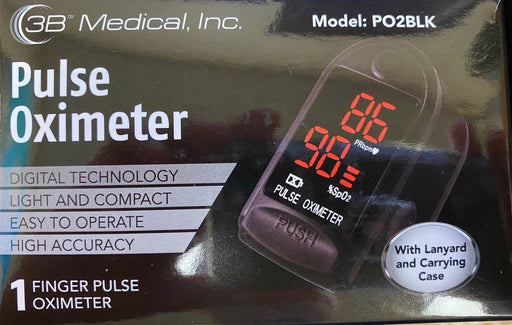 3B Medical Pulse Oximeter Oxygen Saturation Heart Rate Pocket - Footit Medical, CPAP, Stairlift, Orthotic, Prosthetic, & Mobility Supply