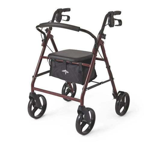 "Basic Rollator 8"" WH - Footit Medical, CPAP, Stairlift, Orthotic, Prosthetic, & Mobility Supply"