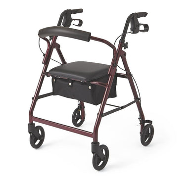 Basic Rollator 4 Wheels Mobility - Footit Medical, CPAP, Stairlift, Orthotic, Prosthetic, & Mobility Supply