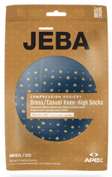 Jeba Knee-High Compression Socks Polka Dot Pattern - USA Medical Supply
