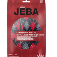 Jeba Knee-High Compression Socks Argyle Pattern