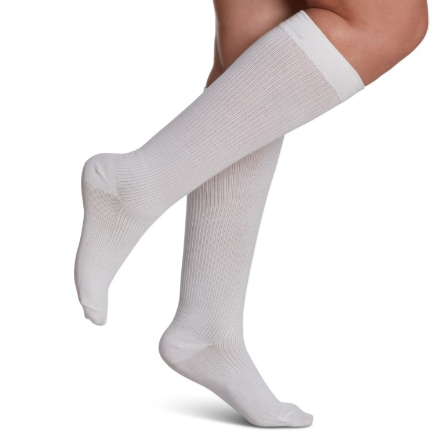 146 Casual COTTON for Women by Sigvaris Knee High Calf Compression Stockings 15-20mmHg