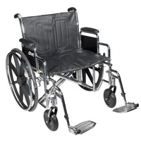 Bariatric Extra Wide Wheelchair with 1 Year Warranty! 450LBS Capacity - Footit Medical, CPAP, Stairlift, Orthotic, Prosthetic, & Mobility Supply