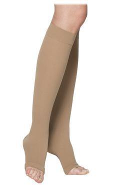232 SEA ISLAND COTTON FOR Women open toe by Sigvaris Standard Grip Top Knee High Calf Compression Stockings - Footit Medical, CPAP, Stairlift, Orthotic, Prosthetic, & Mobility Supply