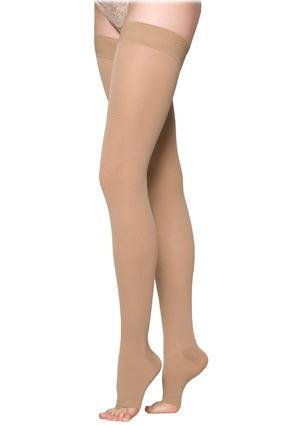 232 SEA ISLAND COTTON FOR Women by Sigvaris Open Toe Thigh High Compression Stockings - Footit Medical, CPAP, Stairlift, Orthotic, Prosthetic, & Mobility Supply