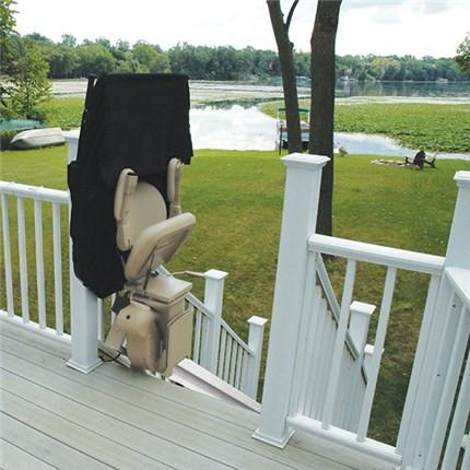 Refurbished Bruno Outdoor Elite Stairlift StairGlide Chair Outside - Footit Medical, CPAP, Stairlift, Orthotic, Prosthetic, & Mobility Supply
