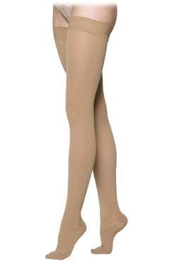 232 SEA ISLAND COTTON FOR Women by Sigvaris Closed Toe Thigh High Compression Stockings - Footit Medical, CPAP, Stairlift, Orthotic, Prosthetic, & Mobility Supply