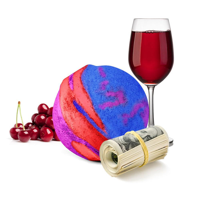 LGBTQ Black Cherries And Wine Cash Bath Bomb
