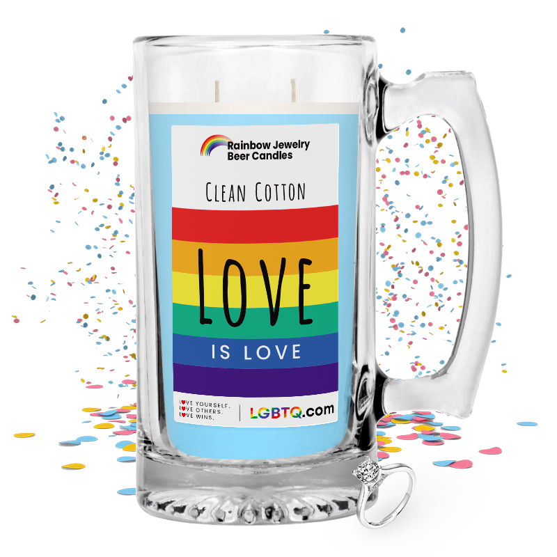 LGBTQ Clean Cotton Rainbow Beer Jewelry Candle
