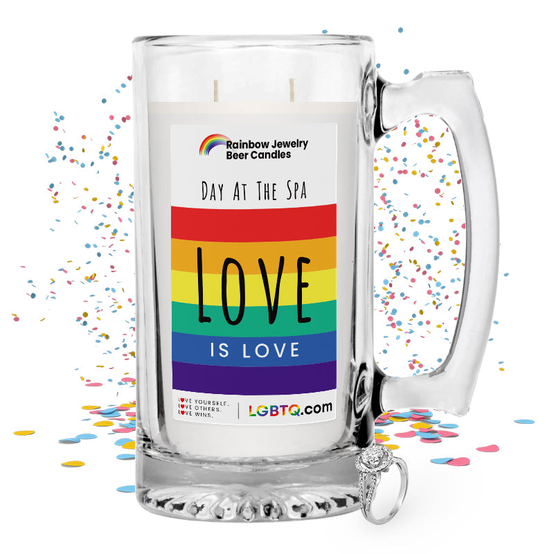 LGBTQ Day At The Spa Rainbow Beer Jewelry Candle