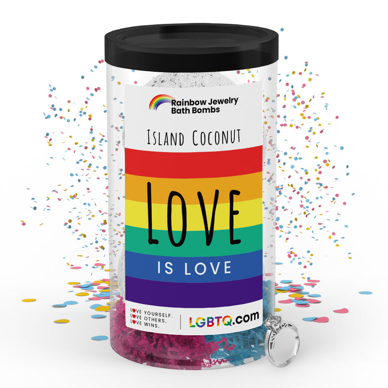 LGBTQ Island Coconut Rainbow Jewelry Bath Bombs