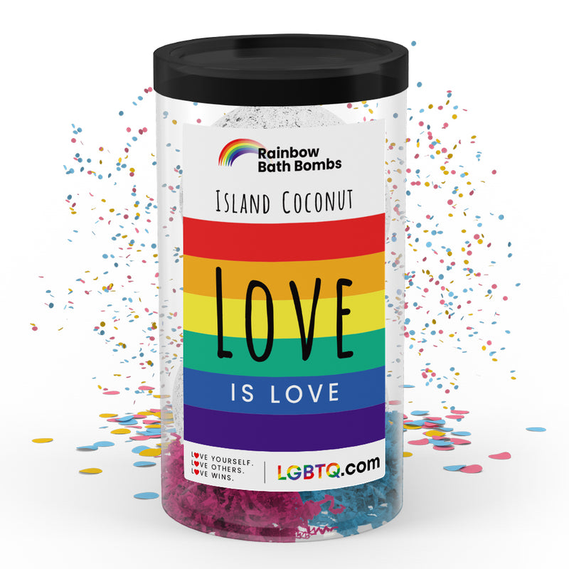 LGBTQ Island Coconut Rainbow Bath Bombs