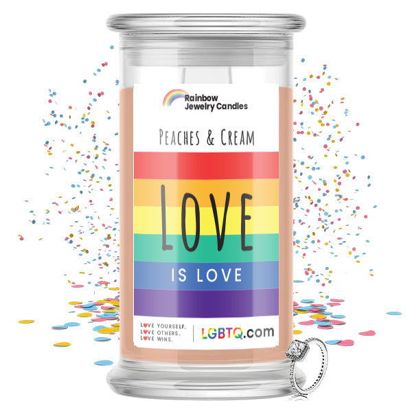 LGBTQ Peaches & Cream Rainbow Jewelry Candle