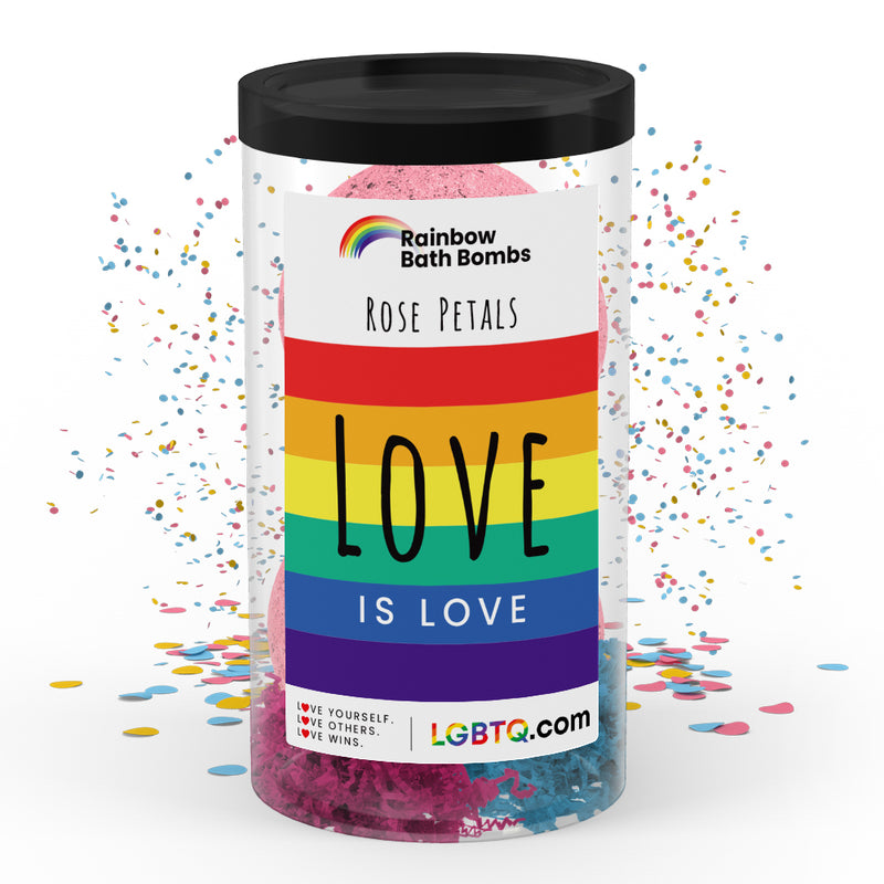 LGBTQ Rose Petals Rainbow Bath Bombs