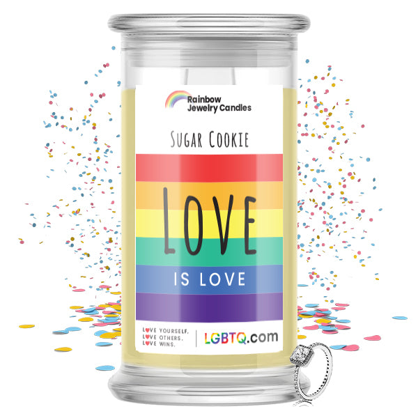 LGBTQ Sugar Cookie Rainbow Jewelry Candle