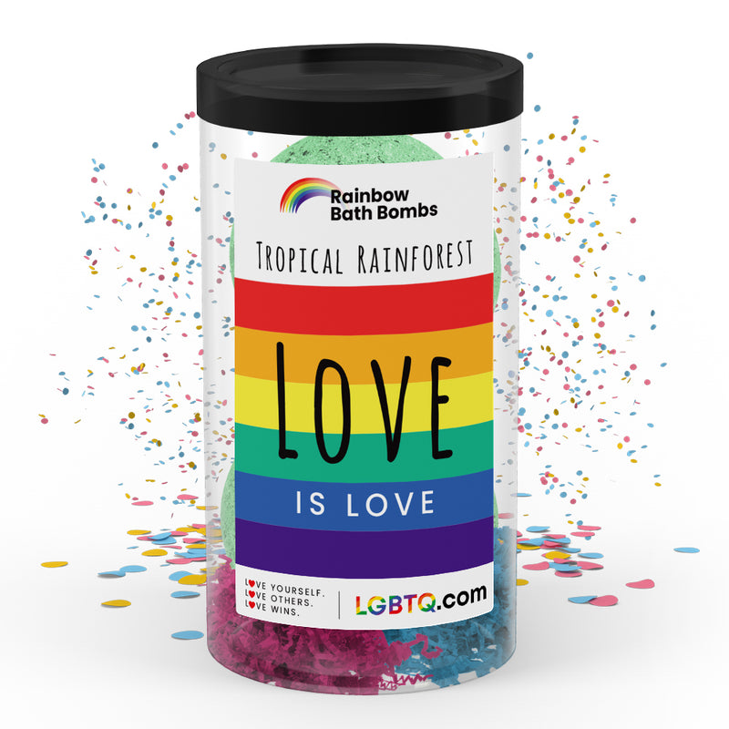 LGBTQ Tropical Rainforest Rainbow Bath Bombs