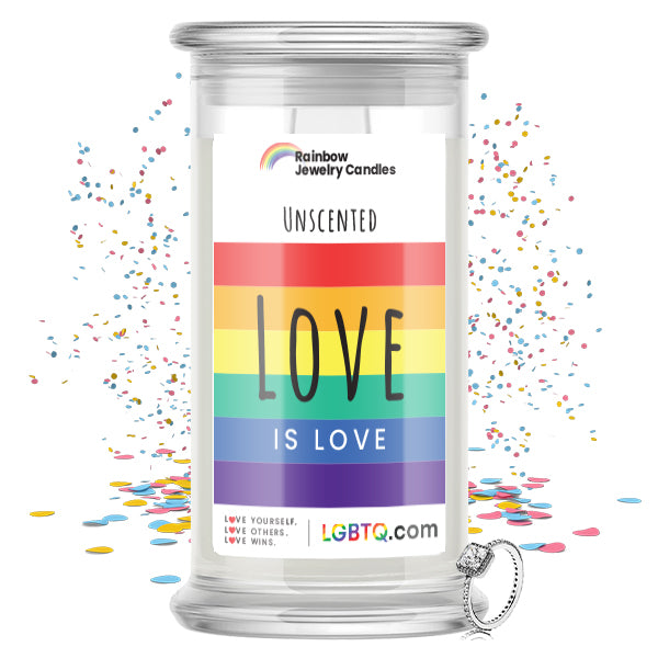 LGBTQ Unscented Rainbow Jewelry Candle