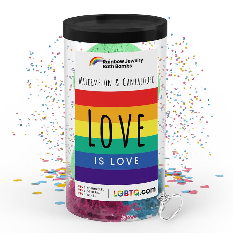 LGBTQ Watermelon & Cantaloupe Rainbow Jewelry Bath Bombs