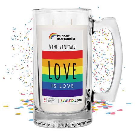 LGBTQ Wine Vineyard Rainbow Beer Candle