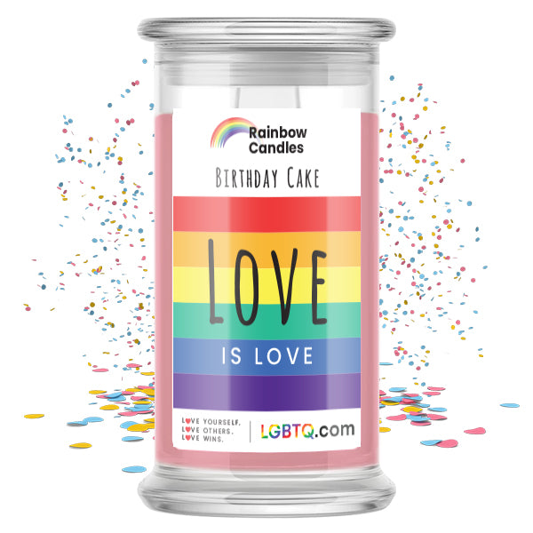 LGBTQ Birthday Cake Rainbow Candle