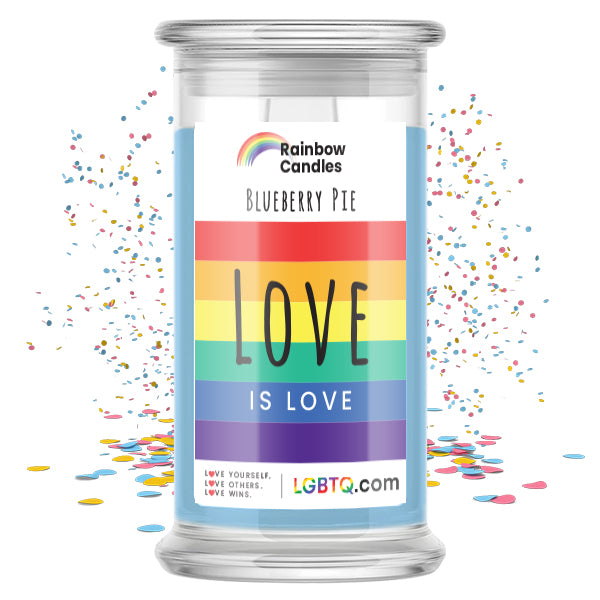 LGBTQ Blueberry Pie Rainbow Candle