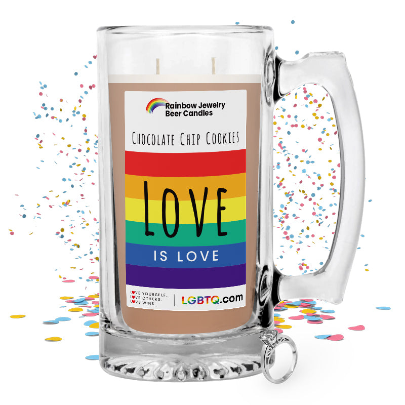 LGBTQ Chocolate Chip Cookies Rainbow Beer Jewelry Candle