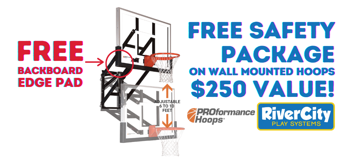 Free Proformance Hoop Safety Package. Free Backboard Edge Pad.