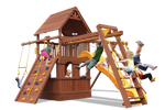 Load image into Gallery viewer, Deluxe Fort Combo 3 with Playhouse (21C) - River City Play Systems